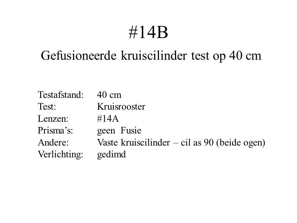 #14B Gefusioneerde kruiscilinder test op 40 cm Testafstand:40 cm Test:Kruisrooster Lenzen: #14A Prisma's:geen Fusie Andere:Vaste kruiscilinder – cil a