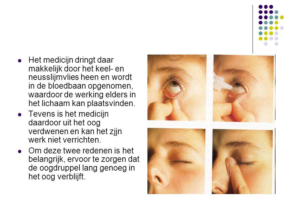 Het medicijn dringt daar makkelijk door het keel- en neusslijmvlies heen en wordt in de bloedbaan opgenomen, waardoor de werking elders in het lichaam