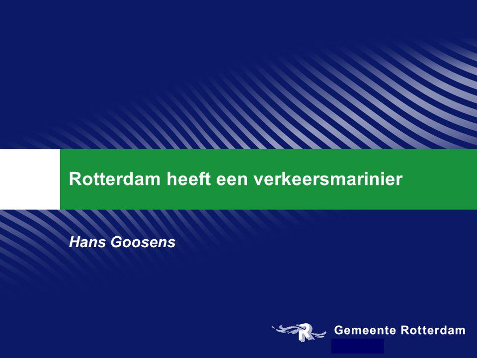 Rotterdam heeft een verkeersmarinier Hans Goosens