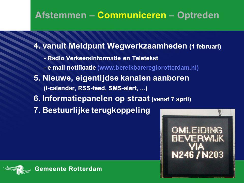 Afstemmen – Communiceren – Optreden 4.
