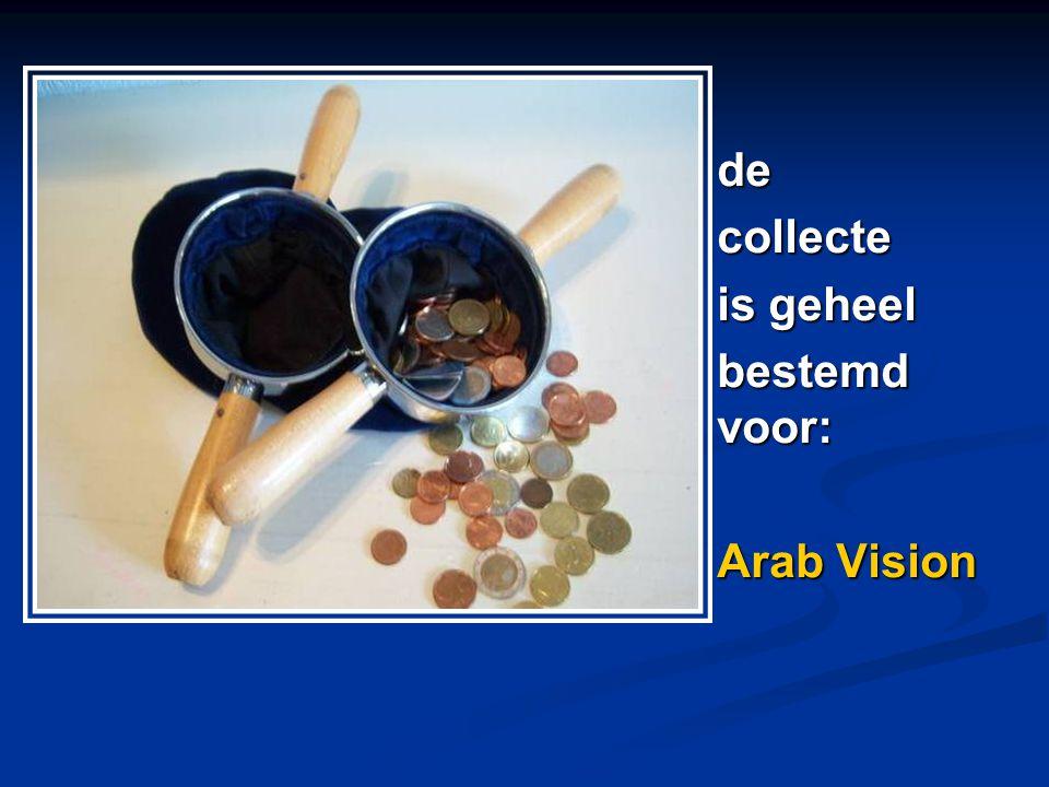 decollecte is geheel bestemd voor: Arab Vision