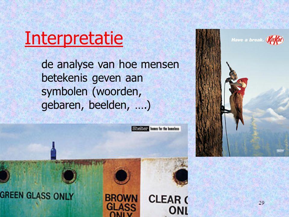 TP 529 Interpretatie de analyse van hoe mensen betekenis geven aan symbolen (woorden, gebaren, beelden, ….)