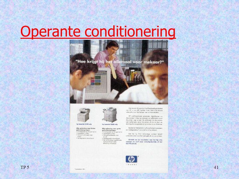 TP 541 Operante conditionering
