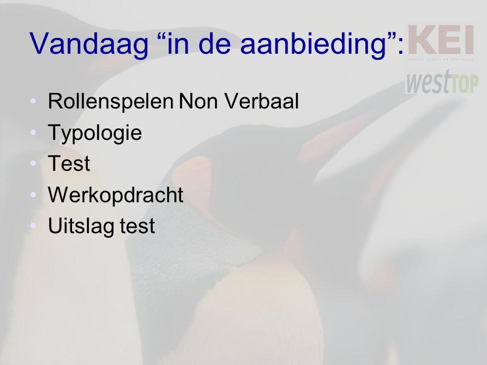 Vandaag in de aanbieding : Rollenspelen Non Verbaal Typologie Test Werkopdracht Uitslag test