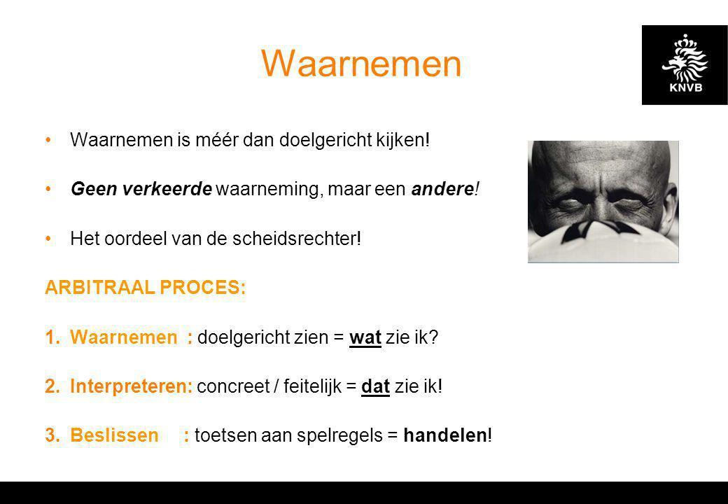 KNVB Academie // Cursus S.O. II // Waarnemen // www.knvb.nl