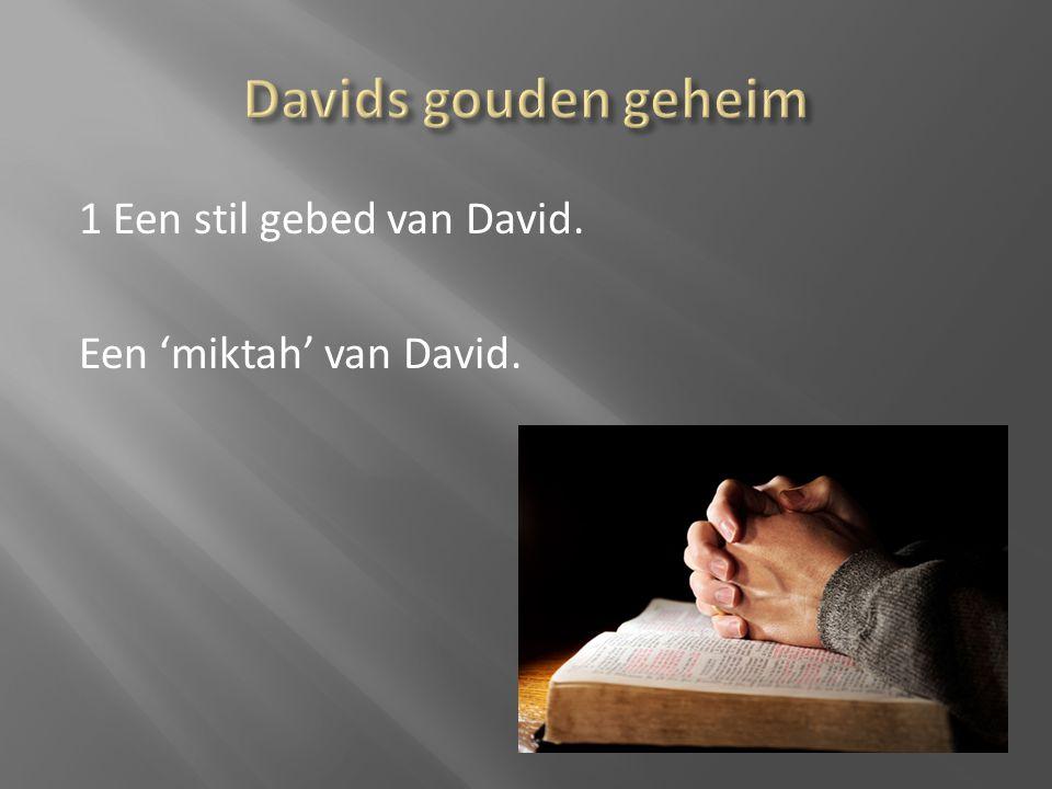 1 Een stil gebed van David. Een 'miktah' van David.