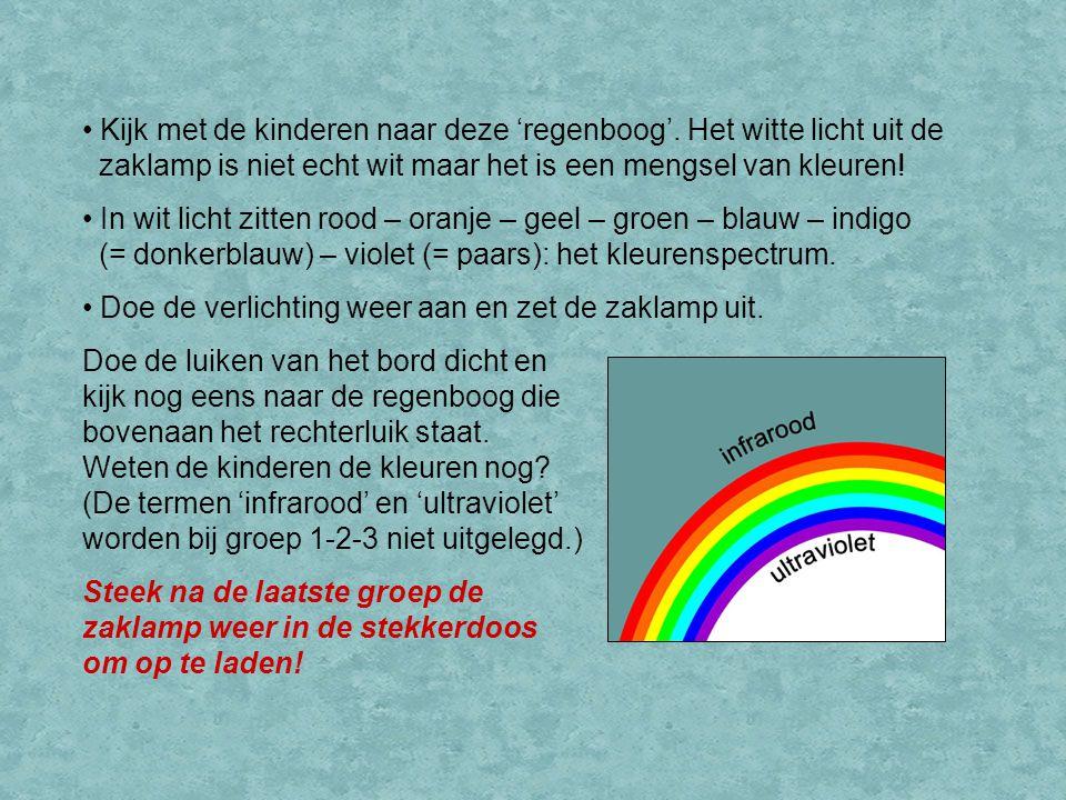 Kijk met de kinderen naar deze 'regenboog'.
