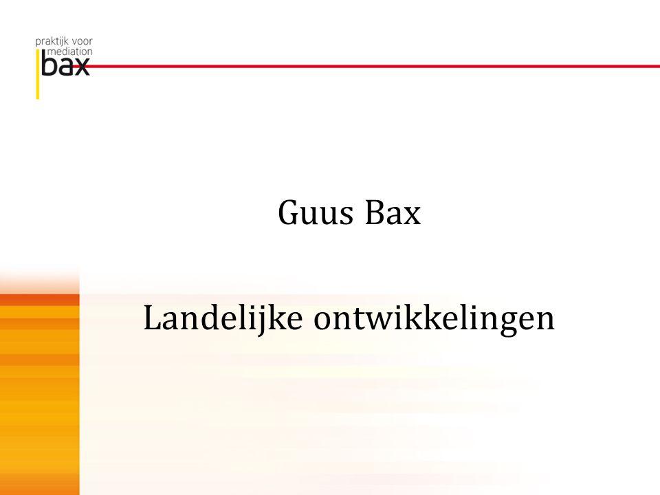Guus Bax Landelijke ontwikkelingen