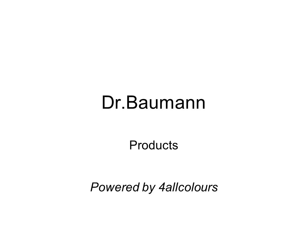 Dr.Baumann Products Powered by 4allcolours