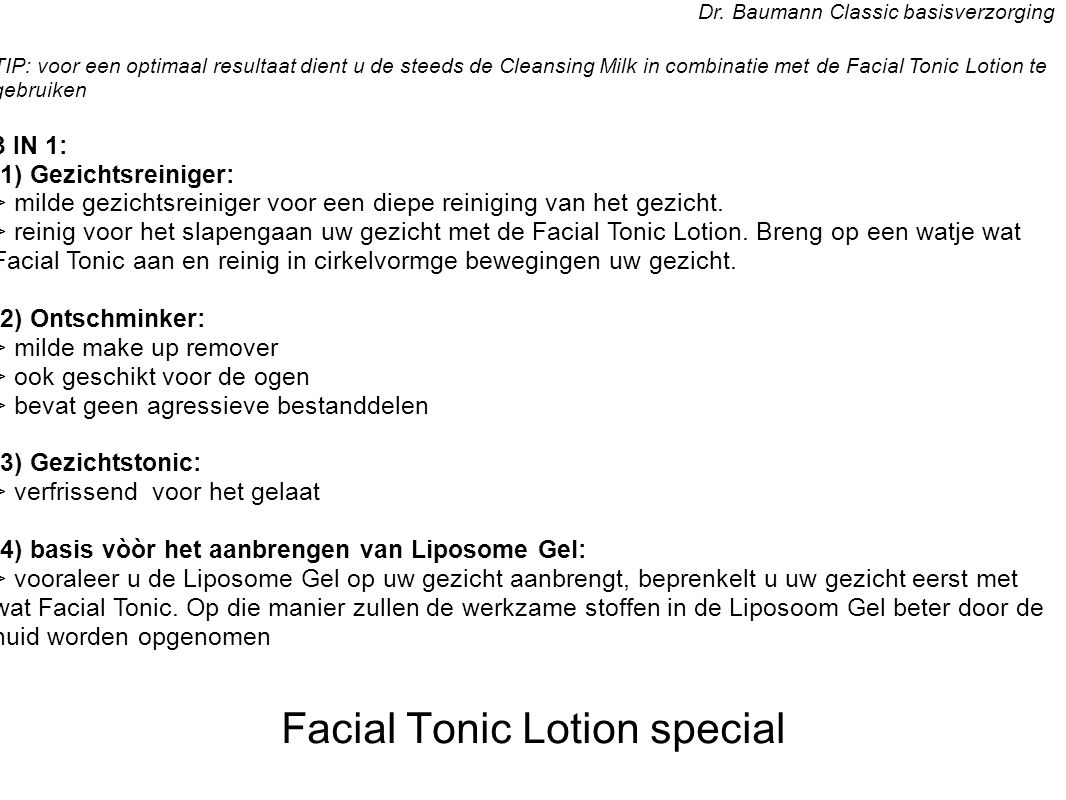 Facial Tonic Lotion special Dr.