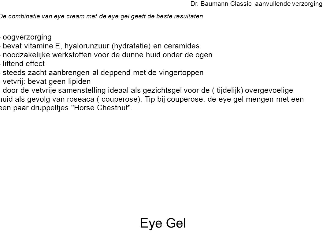 Eye Gel Dr.