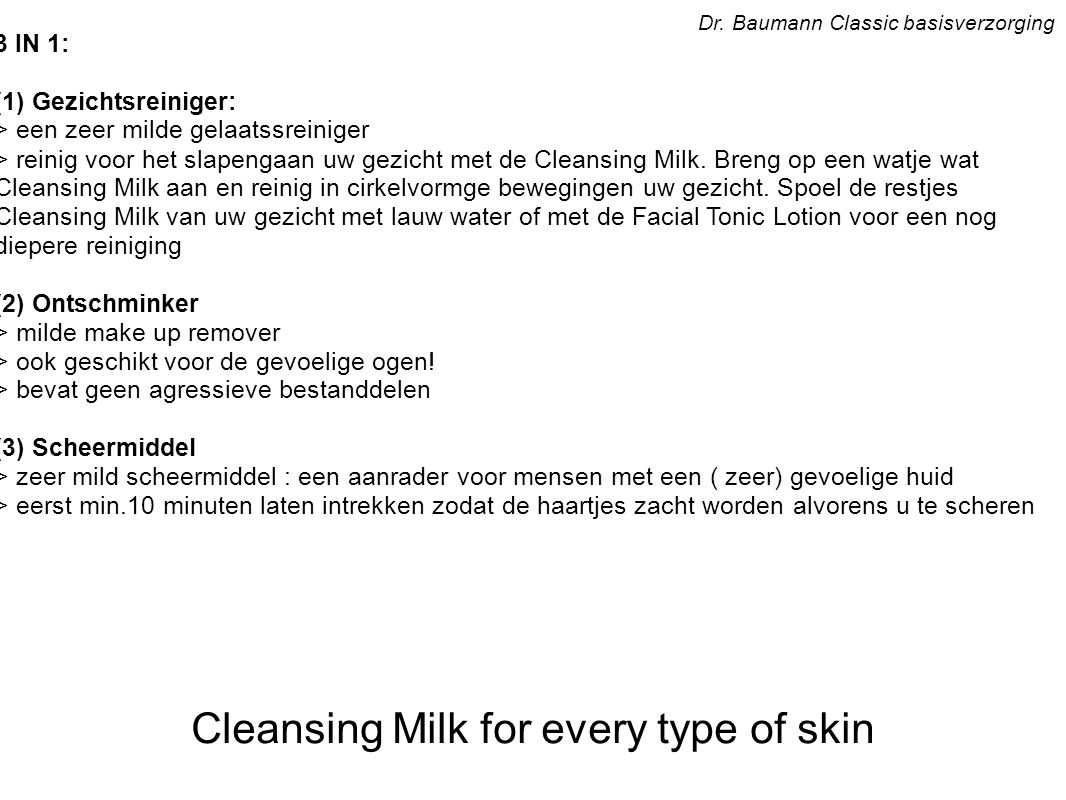 Sensitive Normal and Oily Skin Dr.