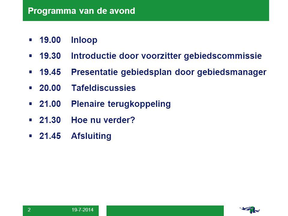19-7-2014 3 Wat is een gebiedscommissie.