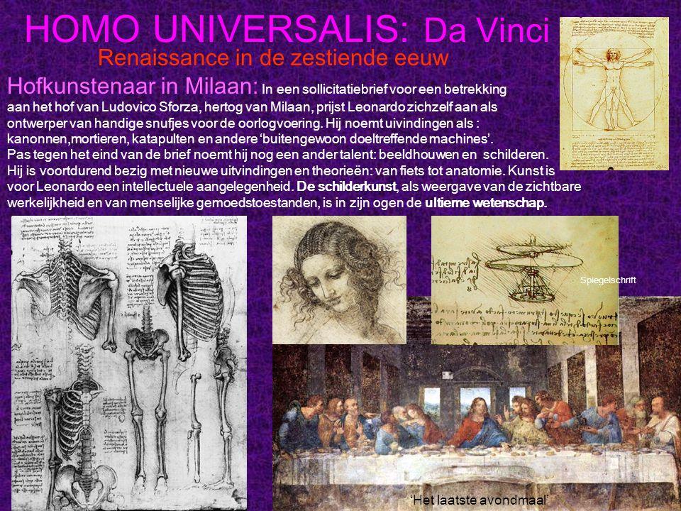 HOMO UNIVERSALIS: Da Vinci Renaissance in de zestiende eeuw Hofkunstenaar in Milaan: In een sollicitatiebrief voor een betrekking aan het hof van Ludo