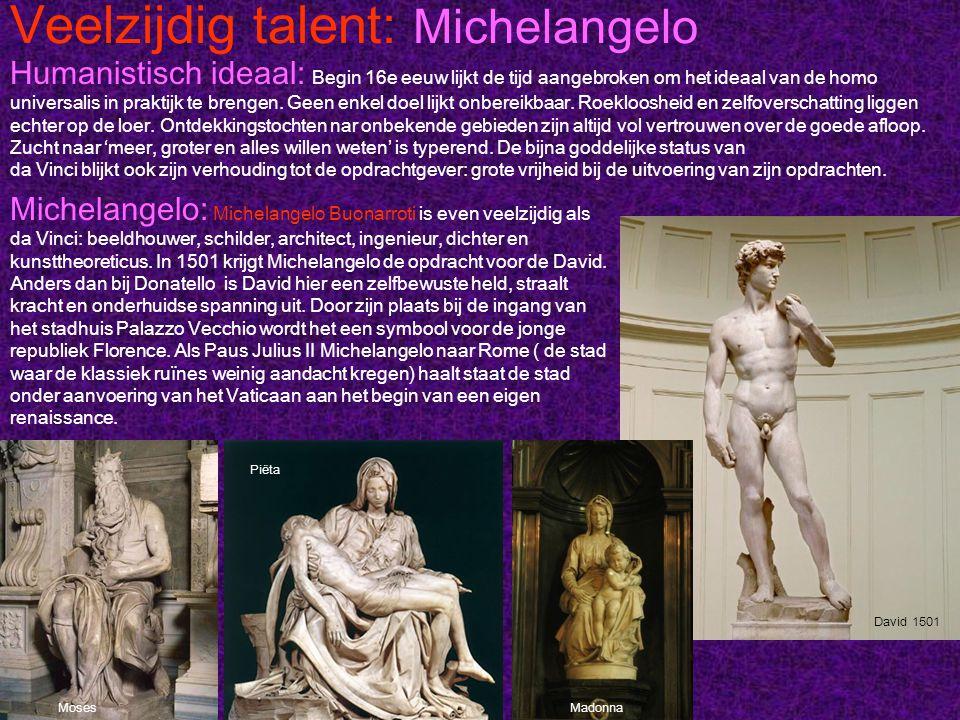 Veelzijdig talent: Michelangel o Sixtijnse kapel: 'De schepping van Adam' is een onderdeel van de plafondfresco in de Sixtijnse kapel.