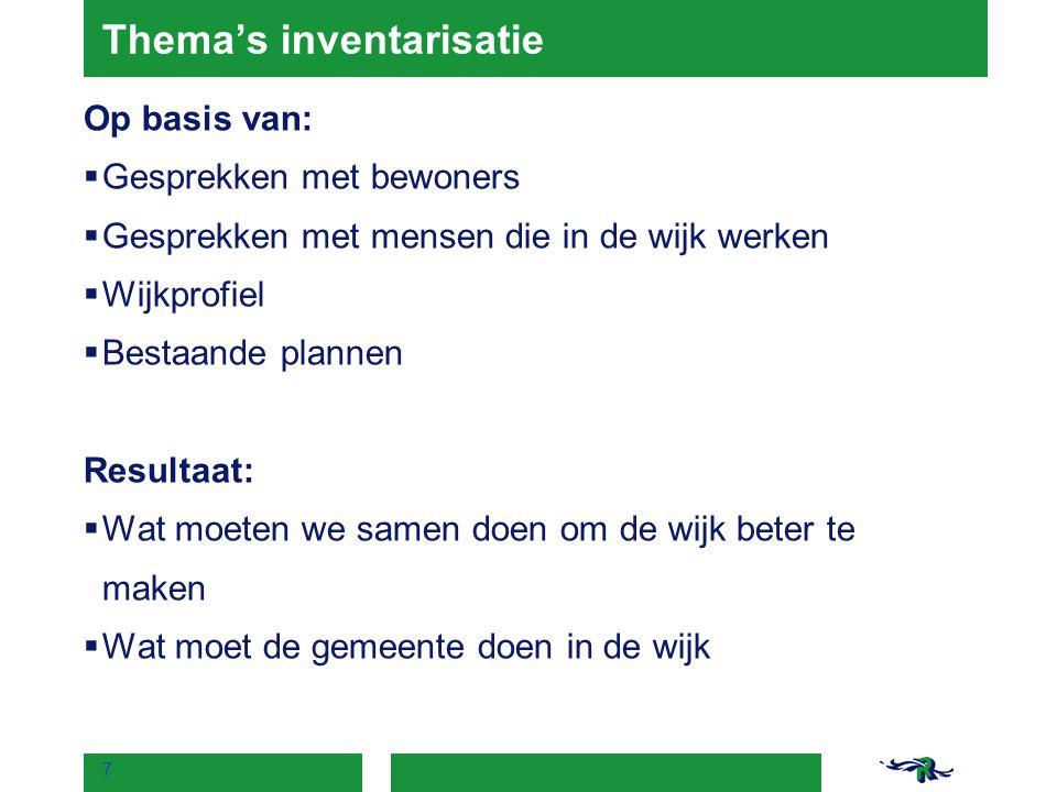 www.wijkprofiel.rotterdam.nl - laag inkomen - hoog aantal werkzoekenden - ervaren overlast door (groepen) jongeren + binding met de wijk + sterke sociale netwerken + aantal basisscholen + inzet voor de wijk 8