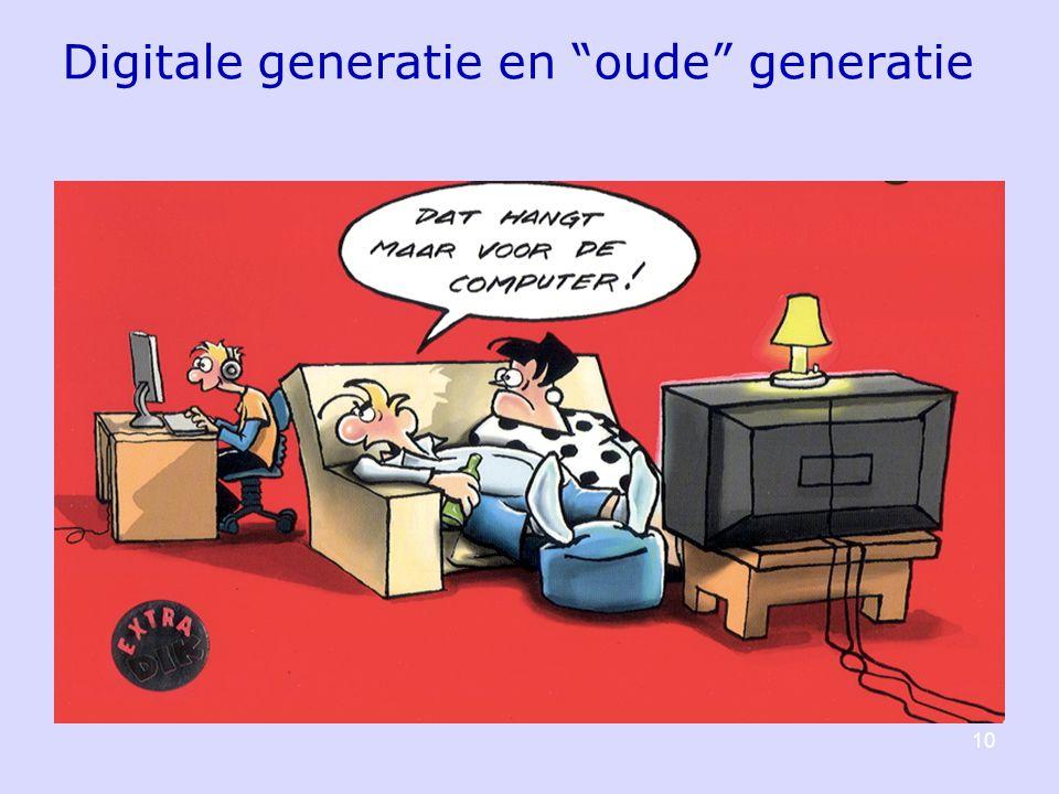 10 Digitale generatie en oude generatie