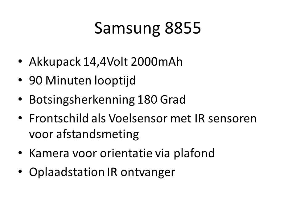 Akkupack 14,4Volt 2000mAh 90 Minuten looptijd Botsingsherkenning 180 Grad Frontschild als Voelsensor met IR sensoren voor afstandsmeting Kamera voor o