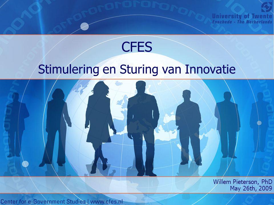 Stimulering en Sturing van Innovatie De overheid doet haar best om te innoveren met behulp van ICT Maar werkt het ook.