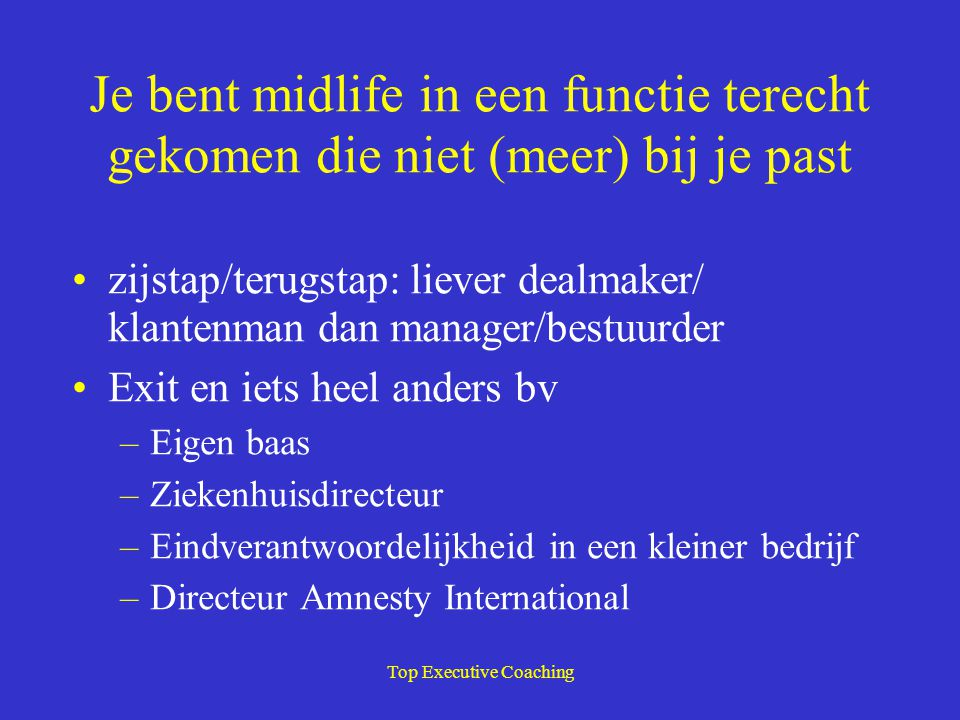 Top Executive Coaching Wat te doen.