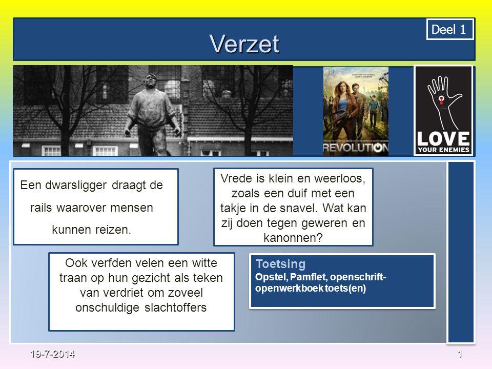 Opdrachten Noem 3 manieren van verzet zoals die voorkomen in 'het kerstverhaal' (actualiteit) Verbind 1 eerder besproken voorbeeld van verzet met 'het kerstverhaal'.