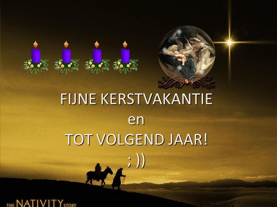 FIJNE KERSTVAKANTIE en TOT VOLGEND JAAR! ; ))