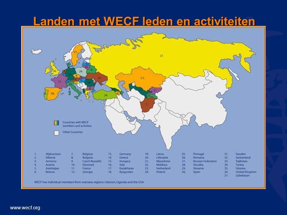 www.wecf.org Landen met WECF leden en activiteiten