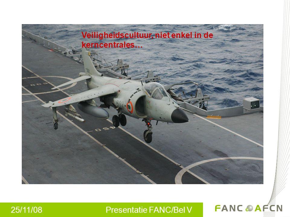 25/11/08 Presentatie FANC/Bel V Veiligheidscultuur, niet enkel in de kerncentrales…