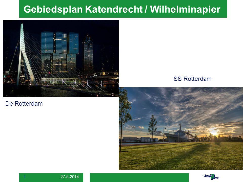 27-5-2014 1 Gebiedsplan Katendrecht / Wilhelminapier SS Rotterdam De Rotterdam