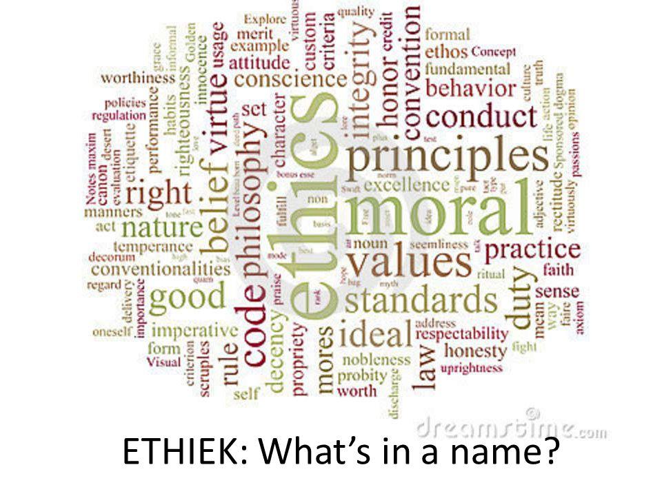 3 Basisbegrippen Ethiek=bestuderen van moraal Moraal=geheel van opvattingen of voorschriften over hoe we ons moeten gedragen Zede(n)=ethische norm -> wat door bepaalde groep mensen als juist of wenselijk wordt aanvaard