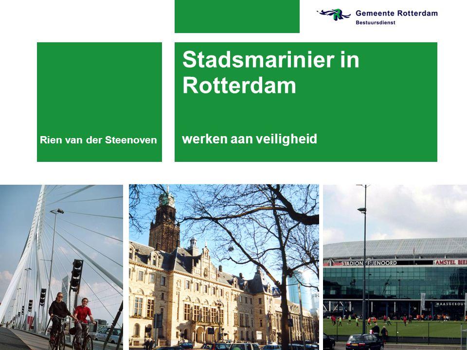 19-7-2014 Stadsmarinier in Rotterdam werken aan veiligheid Rien van der Steenoven