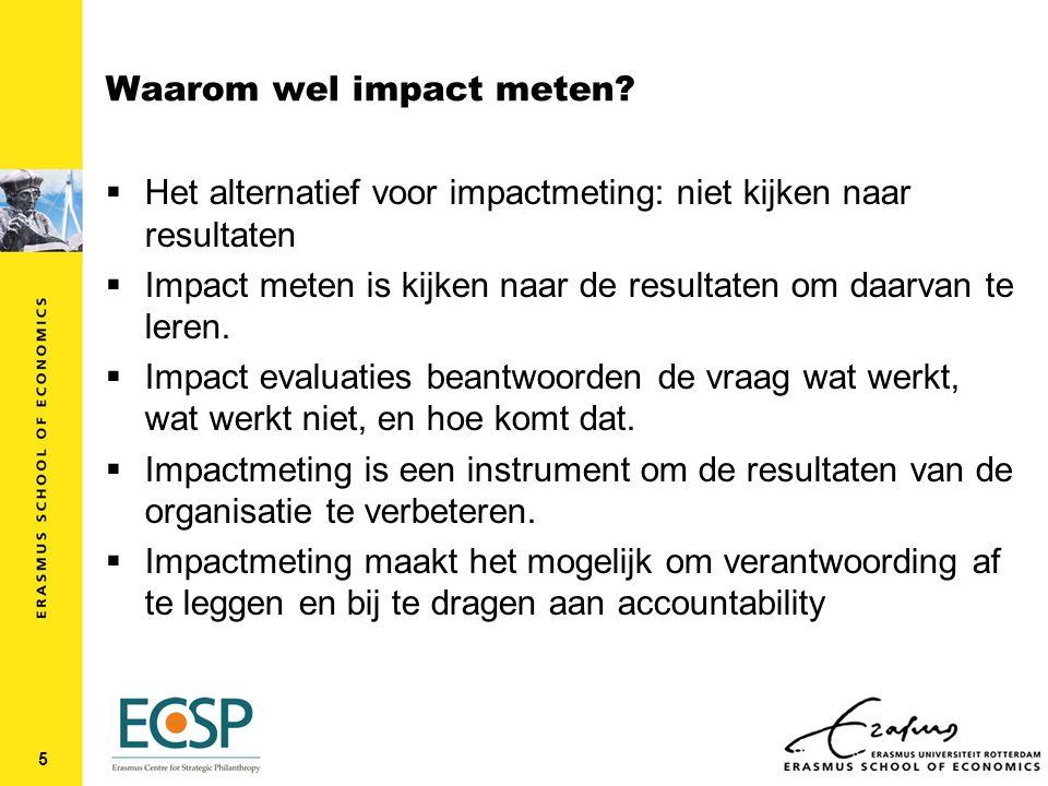 Waarom wel impact meten.