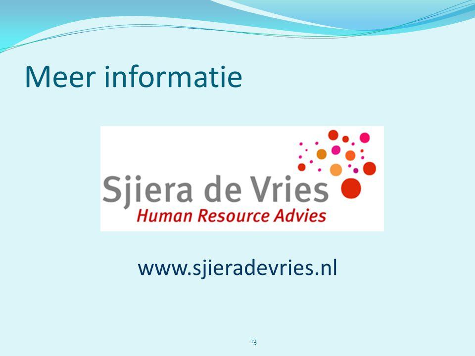 Meer informatie www.sjieradevries.nl 13