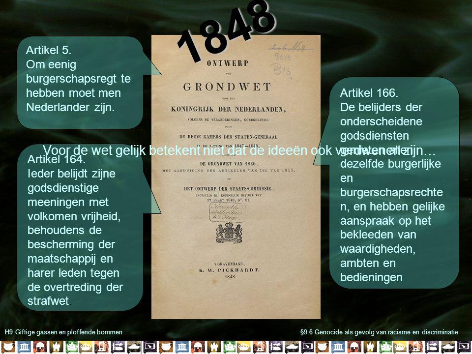 H9 Giftige gassen en ploffende bommen§9.6 Genocide als gevolg van racisme en discriminatie Artikel 164.