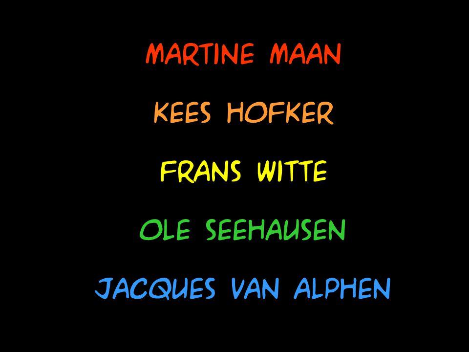 Martine Maan Kees Hofker Ole Seehausen Frans Witte Jacques van alphen