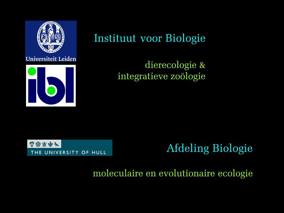 Instituut voor Biologie dierecologie & integratieve zoölogie moleculaire en evolutionaire ecologie Afdeling Biologie