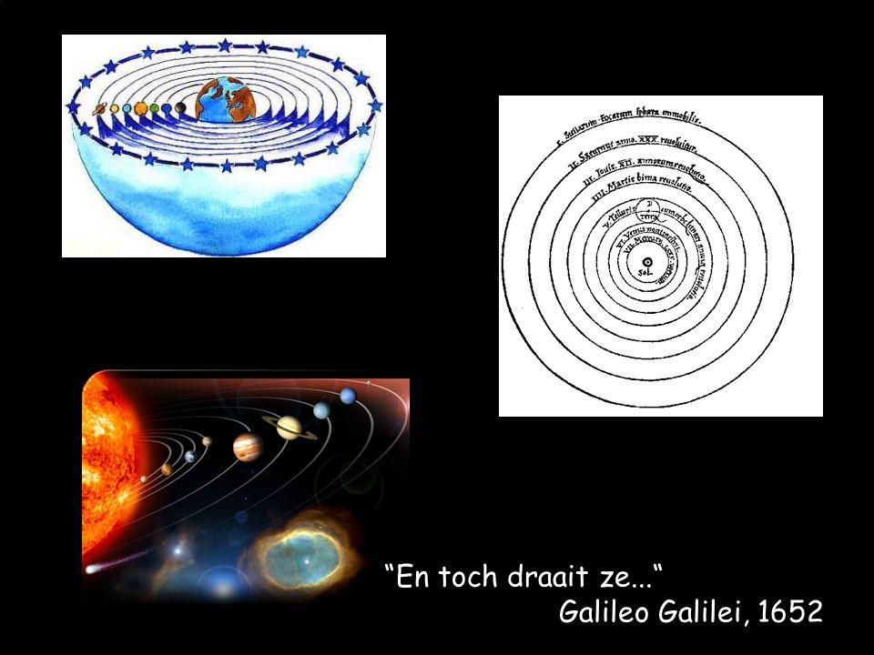 """""""En toch draait ze..."""" Galileo Galilei, 1652"""