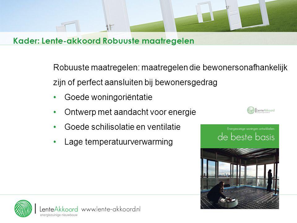 Kader: moties Rc-waarde gebouwschil Tweede Kamer (1) 2011: motie Jansen en motie de Boer/Verhoeven 18 januari 2012: brief minister: aanscherping mits kosteneffectief.