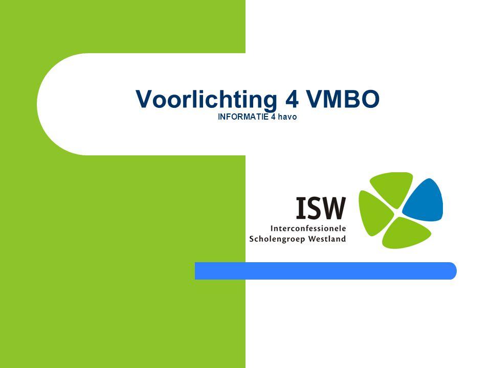 Voorlichting 4 VMBO INFORMATIE 4 havo