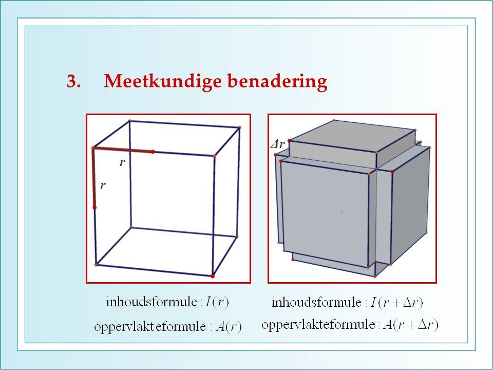 3.Meetkundige benadering r r ΔrΔr