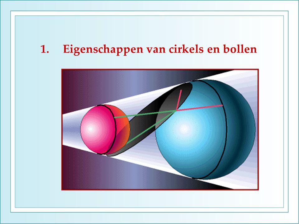 1.Eigenschappen van cirkels en bollen