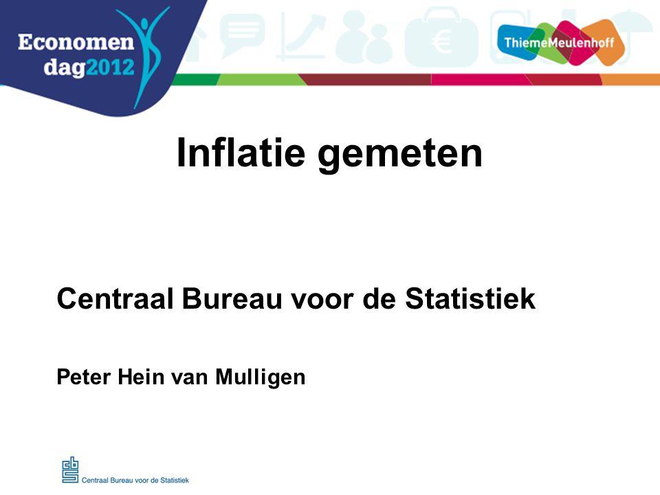 Inflatie gemeten Centraal Bureau voor de Statistiek Peter Hein van Mulligen