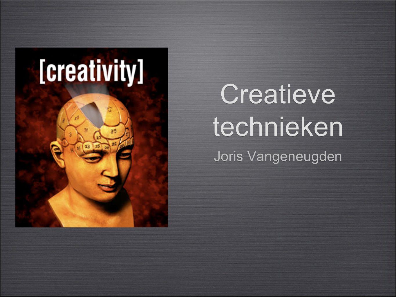 Creatieve technieken Joris Vangeneugden