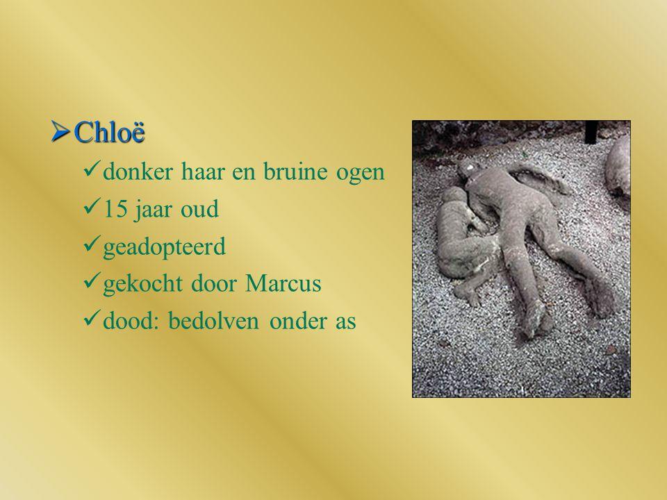  Chloë donker haar en bruine ogen 15 jaar oud geadopteerd gekocht door Marcus dood: bedolven onder as