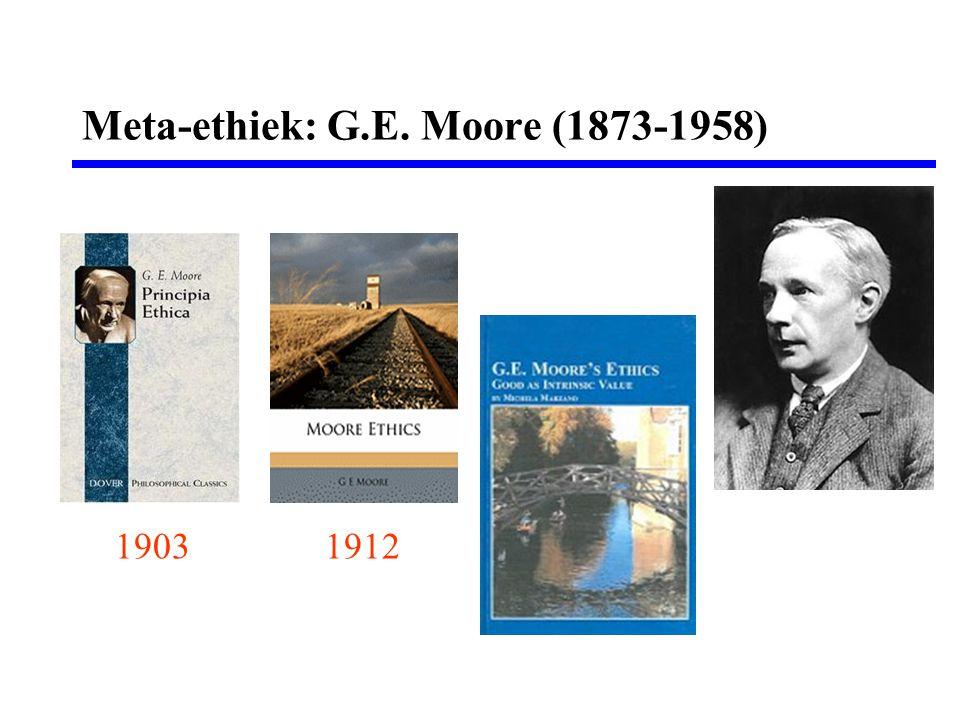 Meta-ethiek: G.E. Moore (1873-1958) 19031912