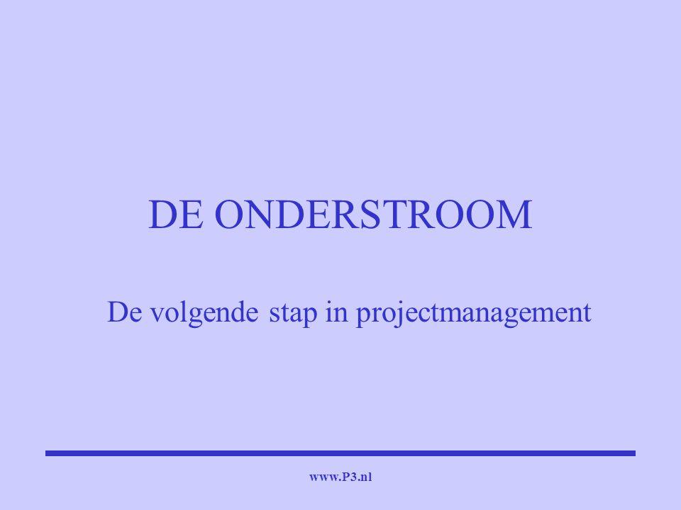 www.P3.nl DE ONDERSTROOM De volgende stap in projectmanagement