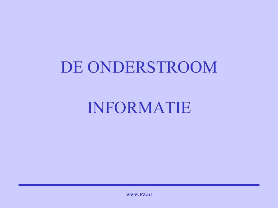 www.P3.nl DE ONDERSTROOM INFORMATIE