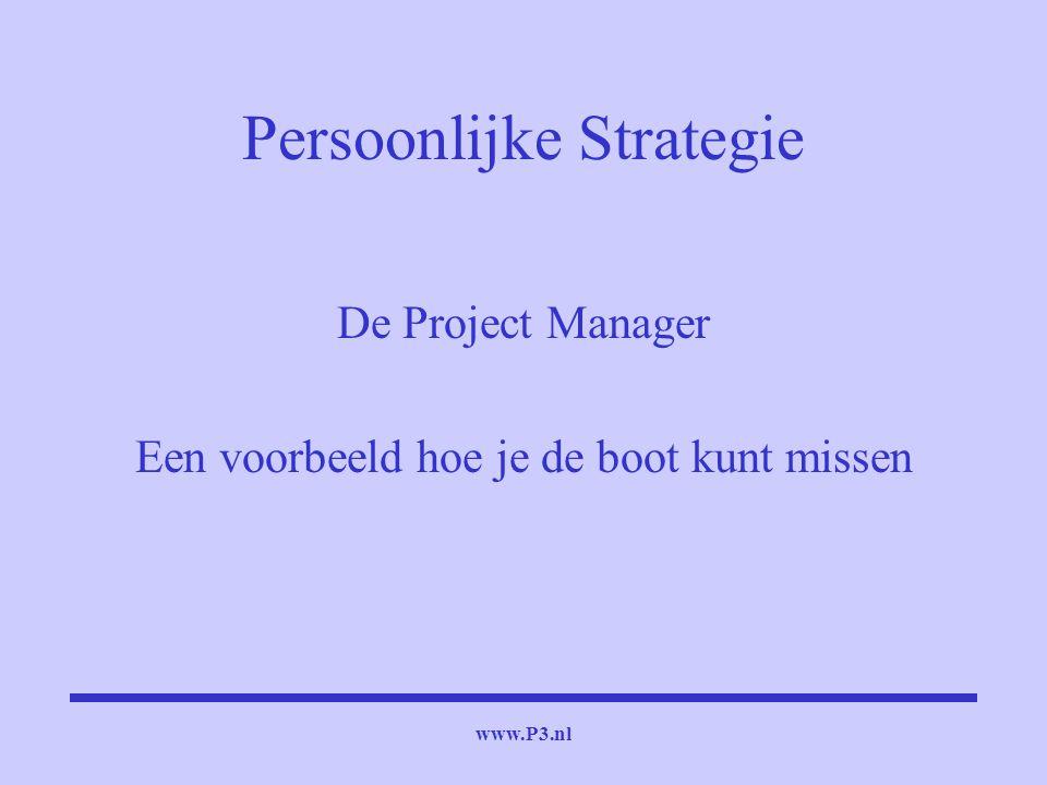www.P3.nl Persoonlijke Strategie De Project Manager Een voorbeeld hoe je de boot kunt missen