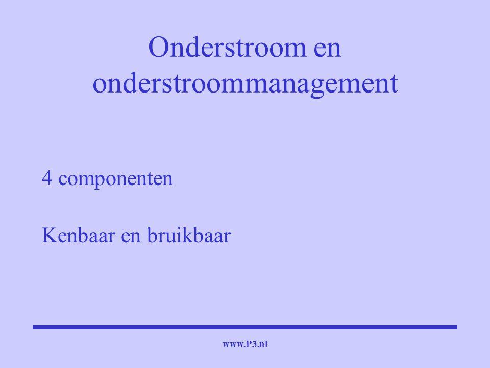 www.P3.nl Onderstroom en onderstroommanagement 4 componenten Kenbaar en bruikbaar
