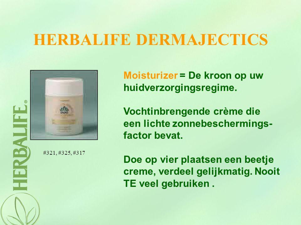 HERBALIFE DERMAJECTICS Moisturizer = De kroon op uw huidverzorgingsregime. Vochtinbrengende crème die een lichte zonnebeschermings- factor bevat. Doe